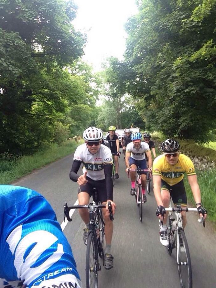sportive group ride