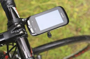 GPS on handlebars for cycling navigation