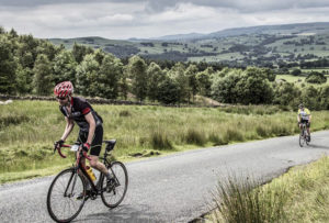 climbing Langabr in the white rose classic cycling sportive
