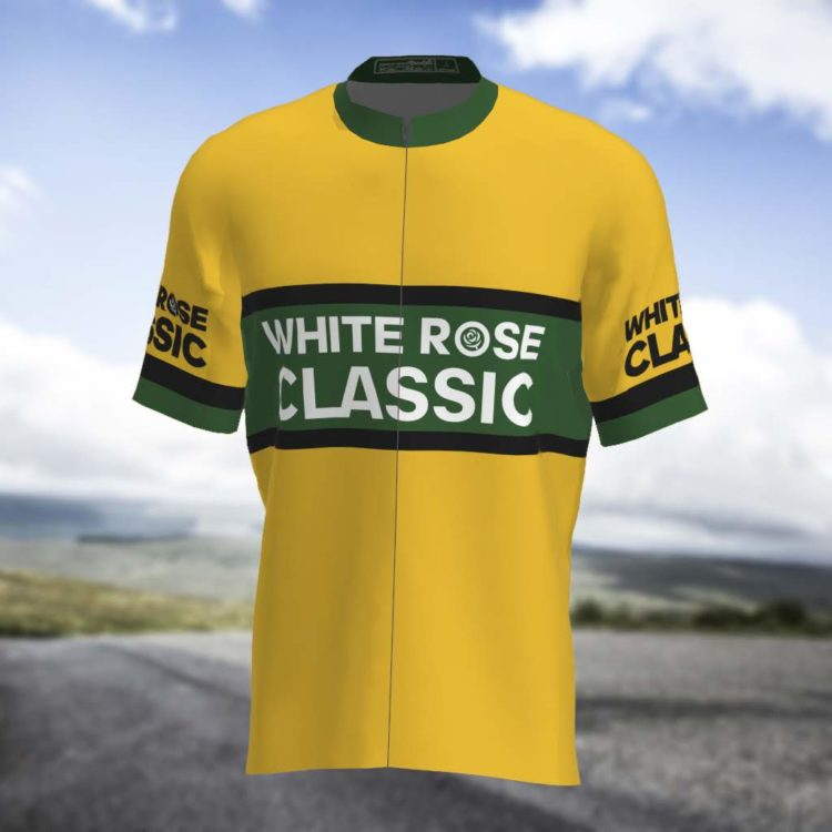 womens yellow cycling jersey front