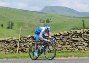 Dave Lloyd cycling in the Yorkshire Dales